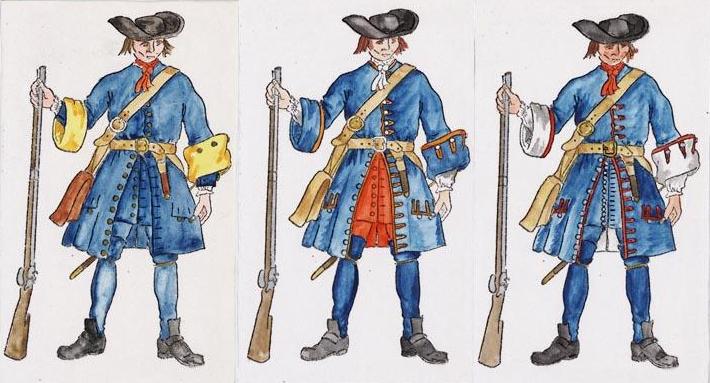 Lewenhaupts , Oxenstiernas och Knorrings regementen