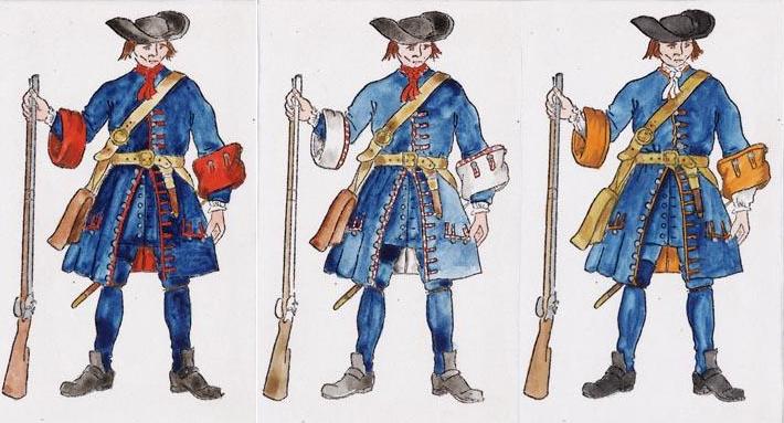 Erskines, Bielkes och Putbus regementen