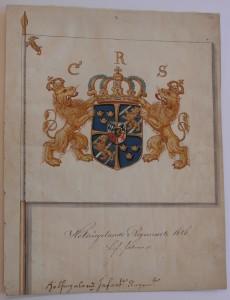 Hälsinge regementes livfana m/1686