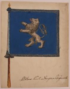 Standar m/1686 för Riksänkedrottningens Livregemente till häst