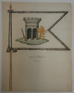 Fana m/1686 för Bohus dragonsskvadron
