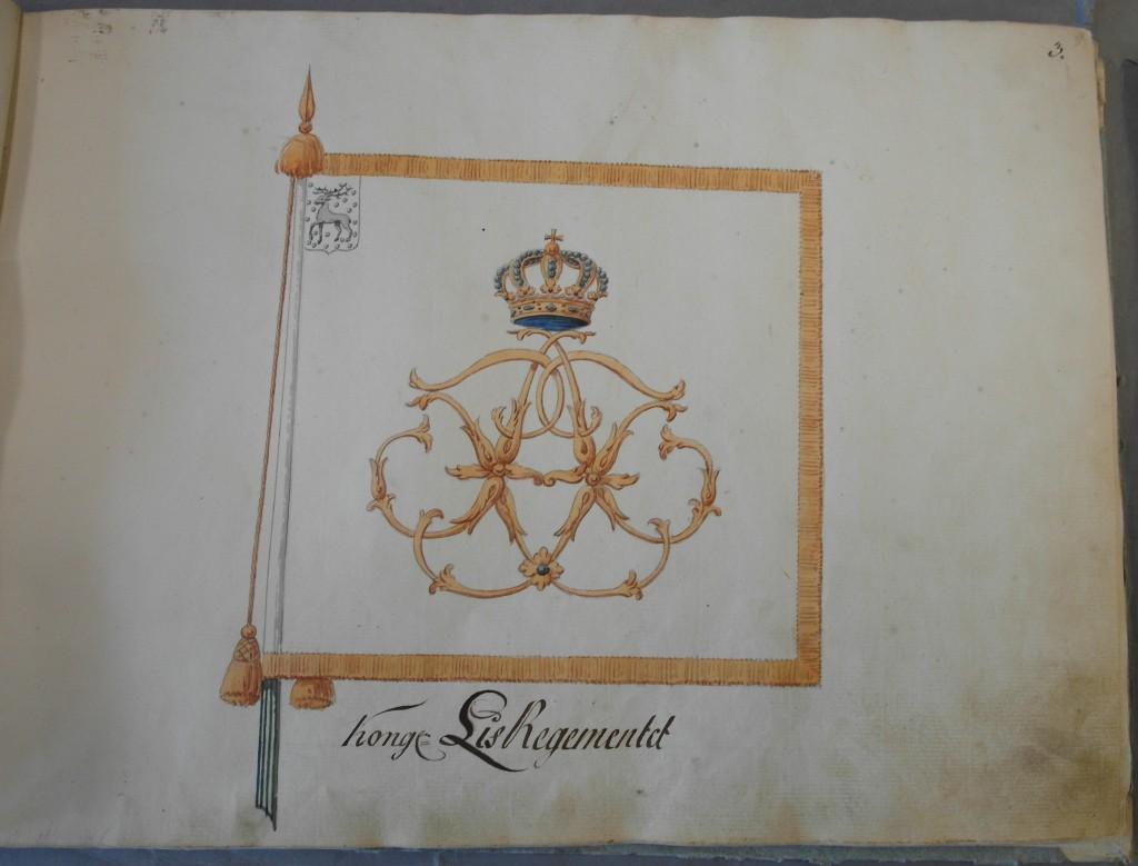 Livregementet till hästs kompanifana m/1766