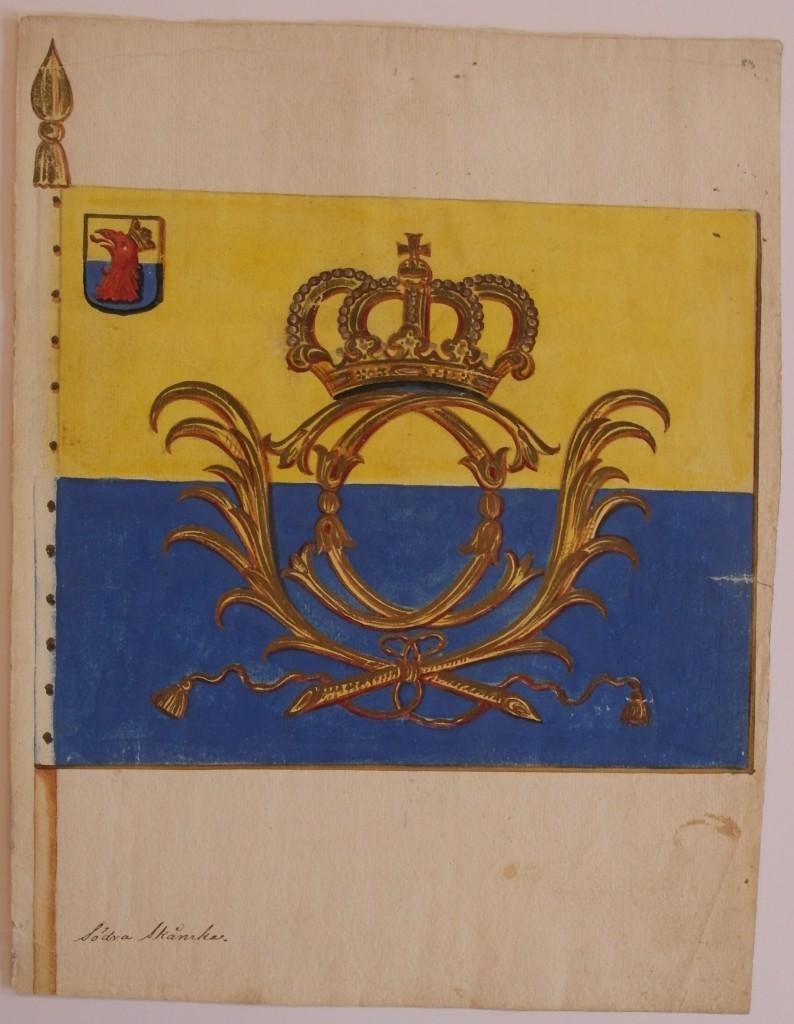 Förslag till fana för Östra skånska infanteriregementet (1711)