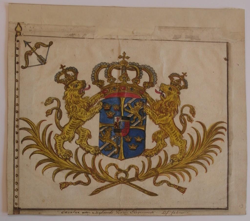 Savolax eller Nylands läns regementes  livfana