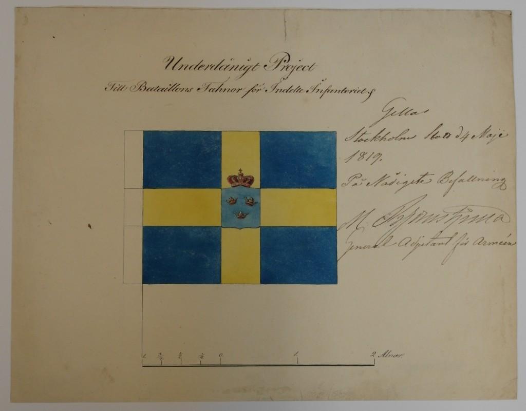 Bataljonsfana m/1819
