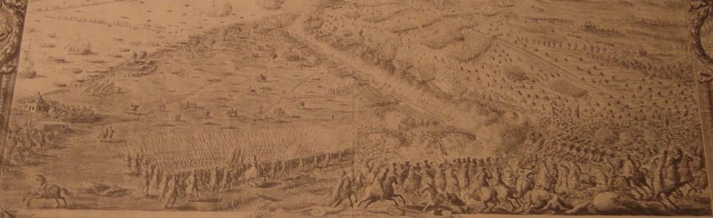 Slaget vid Düna ritat av Johan Lithén (1663-1725, adlad Litheim 1718)