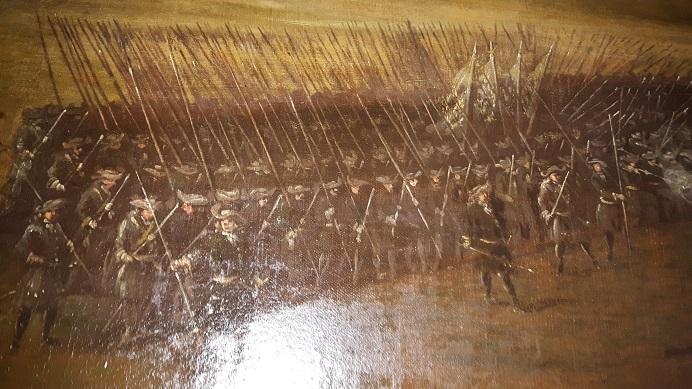 En bataljon Västerbottningar från Daniel Stawerts Düna-målning
